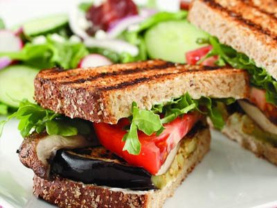 Rock the Evening with Grilled Eggplant and Portobello Sandwich